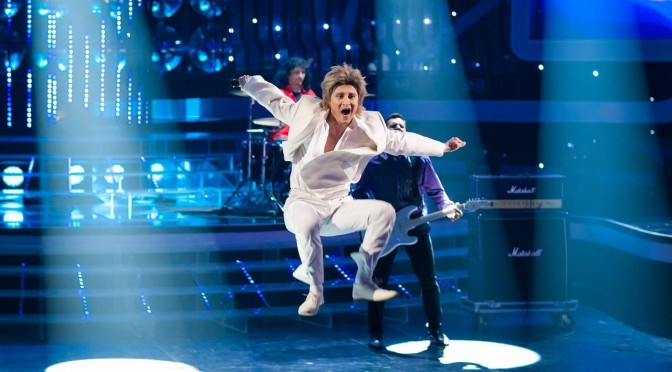 Alexander som Rod Stewart. «One to One» show, episode 12