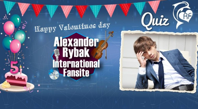 Alexander Rybak International Fansite's bursdags Quiz