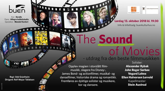 Event: The Sound of Movies – Buen Kulturhus, Mandal 13.oktober 2018